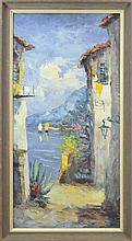 Camprio Mediterranean Village Oil Painting