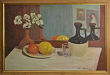 Richard C Pionk (20th century) Still Life w/ Fruit