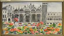 Vada Smith Watercolour Floral Architectural Scene