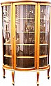 Oak Curio Cabinet on Castors