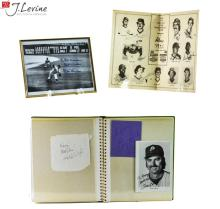 3 Pc Signed Photo Album & Poster Lot w/ Don Larsen