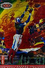 Signed Peter Max (1937 - ) Super Bowl XXX Poster