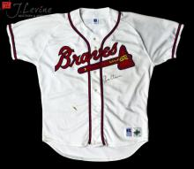 Signed Tom Glavine Russell Athletic Jersey