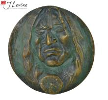 Joe Beeler Native American Bronze Medallion #4