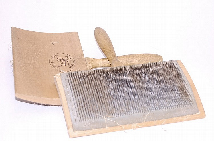 Pair of Wool Paddle Carders