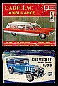 Vintage Ambulance & Chevy Panel Truck Model Kits