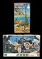 Vintage Jeep & Anti-Aircraft Gun Model Kits