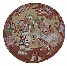 Camilio Tafoya Sunflower Santa Clara Pottery Plate