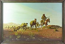 Tellow Knite Framed South Western Painting