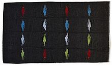 Vintage Native American Rug W/ Bird Design