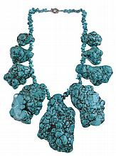 Huge Turquoise Nugget Necklace