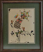 Edgar Sumatzkuku Native American Watercolor