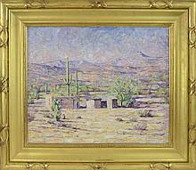 Dines Carlsen (1901-1966) Adobe in the Desert