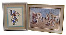2 Pc. Signed Native American Print Lot