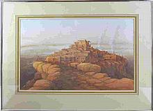 1984 Signed Native American Watercolor