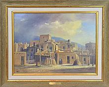 Ralph Love (1907-1992) Taos Pueblo