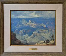 Ralph Love (1907-1992) Canyon Temple