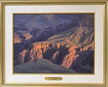 John Dennis Cogan (1953 -) Grand Canyon Painting