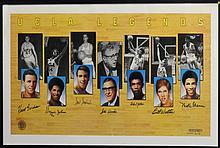 UCLA Legends Multi-Signed Color Lithograph