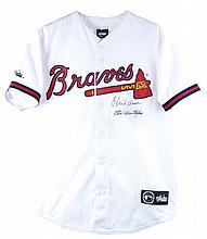Hank Aaron & Earl Williams Signed Braves Jersey