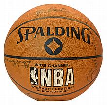 Autographed Team Basketball w/ Fred Carter