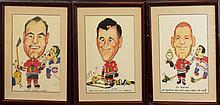 Chicago Blackhawks Caricatures Trio w/ Hay, Vasko