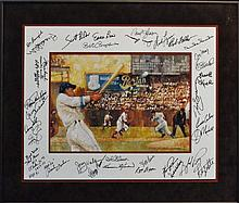 Multi-Signed Sport Print w/ Bob Gibson & 32 others