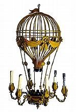 Vintage Hot Air Balloon, Polychromatic Chandelier