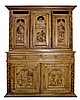 Dutch Oak Hutch, Carved Doors