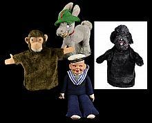 Doll, Stuffed Animal & 2 Hand Puppets