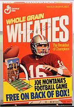 Signed Joe Montana Wheaties Box