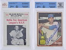 JSA Billy Williams, Nellie Fox Autograph Card