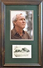 Arnold Palmer Signed Photo & Card