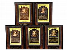 5 Autographed Hall Of Fame Plaque Post Card Lot #4