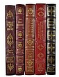 (5) Easton Press Signed 1st Edition Leather Books