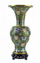 Chinese Cloisonne Vase w/ Pedestal