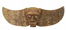 Carved Wood Jaguar Mask