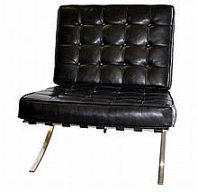 Mid-Century Modern Leather Barcelona Chair