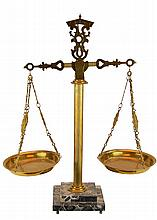 Marble Base Brass Balance Scale