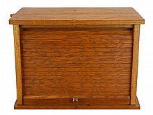 1907 Oak Tambour Door Typewriter Cabinet
