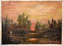 #5 Violetta de Koszeghy Oil on Canvas Painting