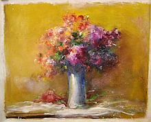 #6 Violetta de Koszeghy Oil on Canvas Painting