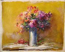 #6 Violetta de Koszeghy Oil on Canvas Painting