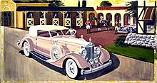 Oil Painting, The Estate Car, Signed C. Geerts, 76