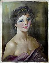 #2 Violetta de Koszeghy Oil on Canvas Painting