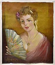 #4 Violetta de Koszeghy Oil on Canvas Painting