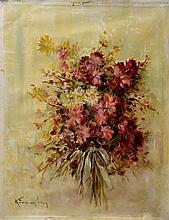 #3 Violetta de Koszeghy Oil on Canvas Painting