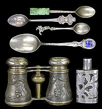 Sterling & Silver Spoons, Bottle, Opera Glasses