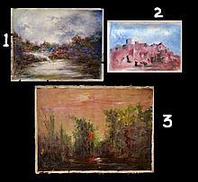 #18 Violetta de Koszeghy 3 Oil on Canvas Paintings