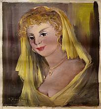 #16 Violetta de Koszeghy Oil on Canvas Painting